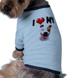 I Love My Pitbull Doggie T-shirt