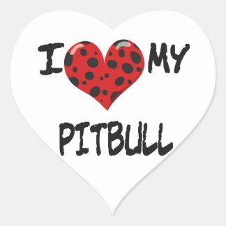 I love my Pitbull Heart Sticker