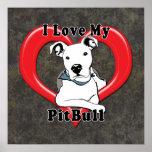 I Love My PitBull Logo