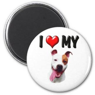 I Love My Pitbull Magnets