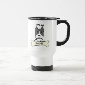 I Love My Pitbull Mugs