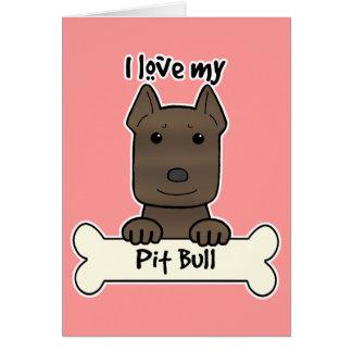 I Love My Pitbull Note Card