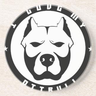 I LOVE MY PITBULL PIT BULL pet dog breed Coasters