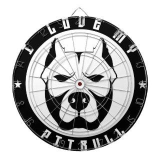 I LOVE MY PITBULL PIT BULL pet dog breed Dartboard With Darts