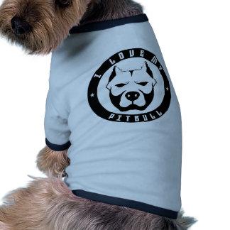 I LOVE MY PITBULL PIT BULL pet dog breed Pet Shirt