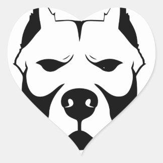 I LOVE MY PITBULL PIT BULL pet dog breed Heart Sticker