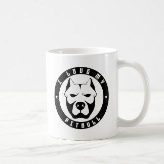 I LOVE MY PITBULL PIT BULL pet dog breed Mug