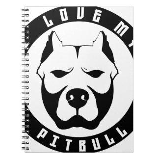 I LOVE MY PITBULL PIT BULL pet dog breed Notebook