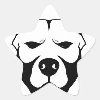 I LOVE MY PITBULL PIT BULL pet dog breed Star Stickers