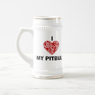 i LOVE MY PITBULL STEIN Beer Steins