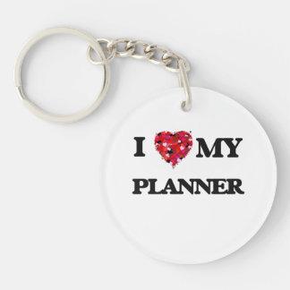 I love my Planner Single-Sided Round Acrylic Key Ring