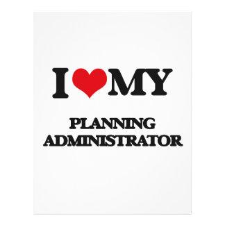 I love my Planning Administrator 21.5 Cm X 28 Cm Flyer