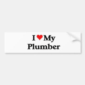 I love my Plumber Bumper Sticker