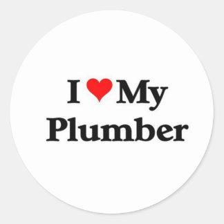 I love my Plumber Classic Round Sticker