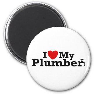 I Love My Plumber Magnet