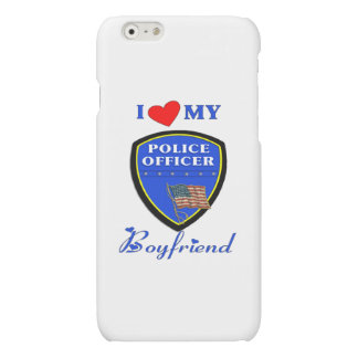 I Love My Police Boyfriend iPhone 6 Plus Case