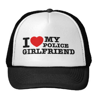 I love my Police girlfriend Trucker Hat