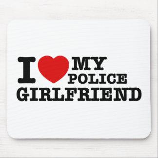 I love my Police girlfriend Mousepad