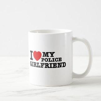 I love my Police girlfriend Coffee Mugs