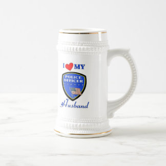 I Love My Police Husband Beer Steins