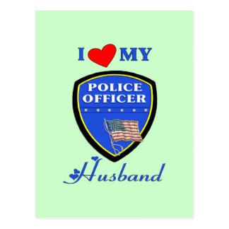 I Love My Police Husband Post Cards