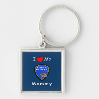 I Love My Police Mommy Key Chain