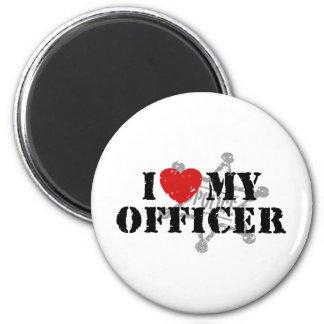 I Love My Police Officer 6 Cm Round Magnet