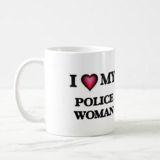 I love my Police Woman Basic White Mug
