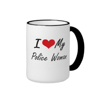 I love my Police Woman Ringer Mug