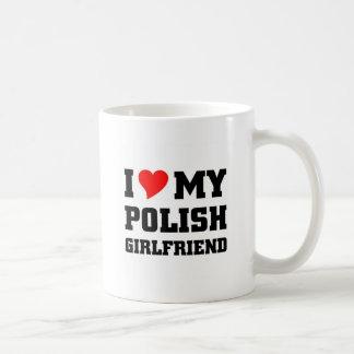 I love my polish girlfriend basic white mug