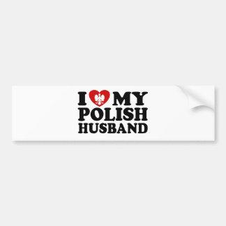 I Love My Polish Husband Bumper Sticker