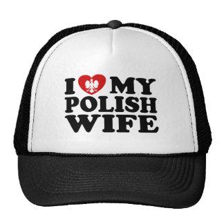 I Love My Polish Wife Cap