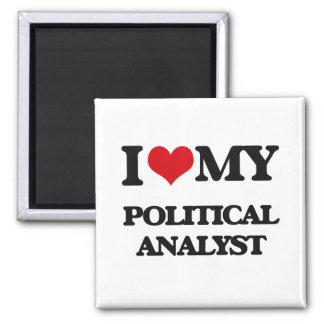 I love my Political Analyst Fridge Magnets