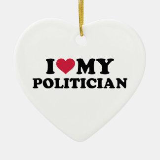 I love my Politician Christmas Tree Ornaments