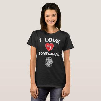 I love my Pomeranian Face Graphic Art T-Shirt