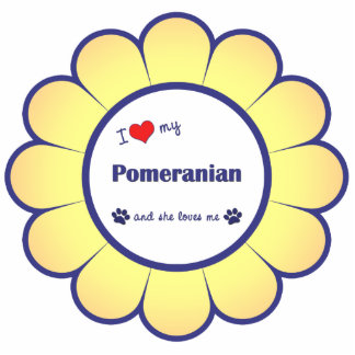 I Love My Pomeranian (Female Dog) Photo Sculpture Decoration