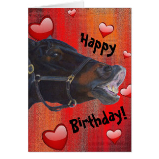 I Love My Pony! Cute Equestrian Card
