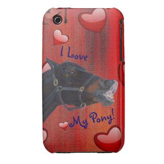 I Love My Pony! Cute Equestrian iPhone 3 Case-Mate Cases