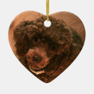 I love my Poodle Christmas Ornament
