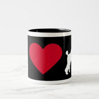 """I Love my Poodle"" Coffee Mugs"