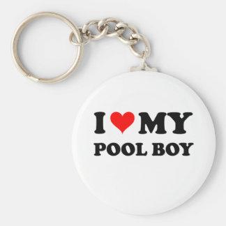 I Love My Pool Boy Key Ring