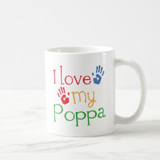 I Love My Poppa (Handprints) Coffee Mug