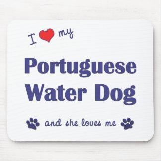 I Love My Portuguese Water Dog (Female Dog) Mouse Mat