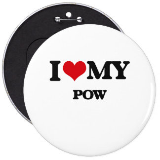 I Love My POW 6 Cm Round Badge