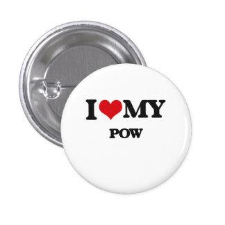 I Love My POW Pinback Button