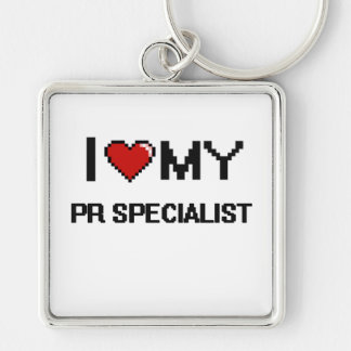 I love my Pr Specialist Silver-Colored Square Key Ring