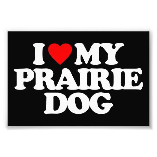 I LOVE MY PRAIRIE DOG PHOTO ART