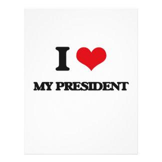 I Love My President 21.5 Cm X 28 Cm Flyer