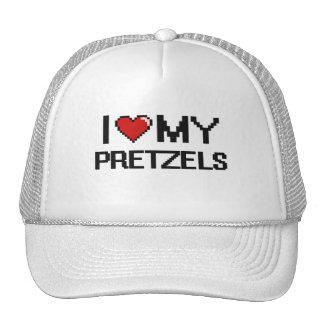 I Love My Pretzels Digital design Cap