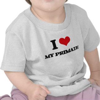 I Love My Primate Tee Shirts
